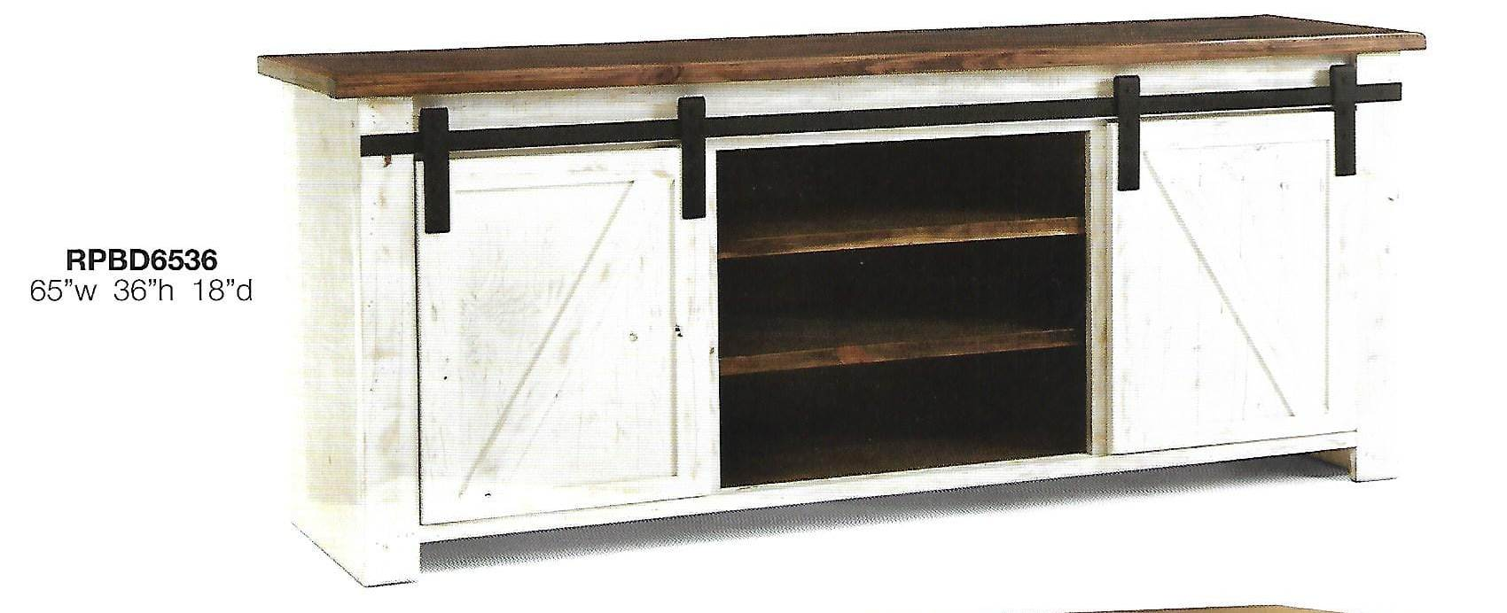 Barn Ridge 65 inch barn door tv console